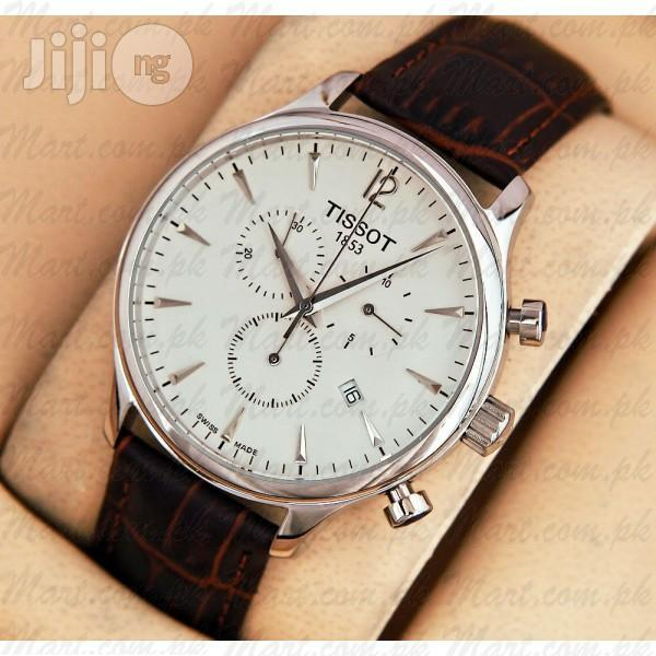 Tissot Swiss Made Chronograph Leather Watch