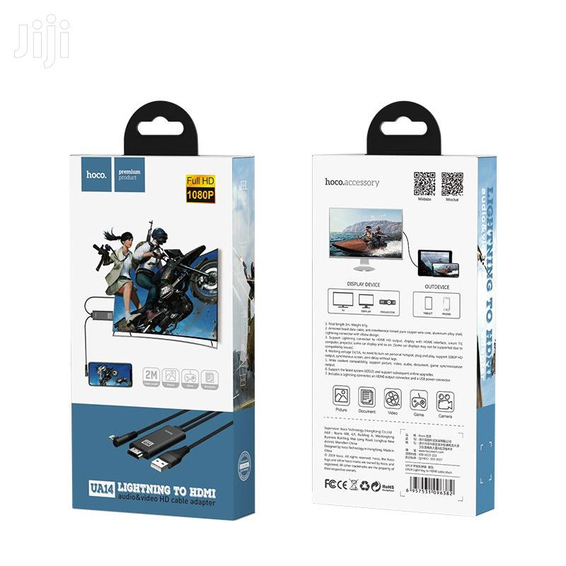 Hoco Cable Lightning To HDMI UA14 Wired Usb Power Connector   Accessories & Supplies for Electronics for sale in Ikeja, Lagos State, Nigeria
