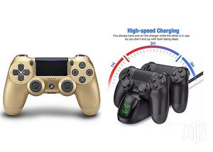 PS4 Controller Pad + Free Fast Charger For Two Controllers | Accessories & Supplies for Electronics for sale in Lagos State, Ikeja