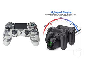PS4 Controller Pad Urban Camo + Free Fast Charger For Two | Accessories & Supplies for Electronics for sale in Lagos State, Ikeja