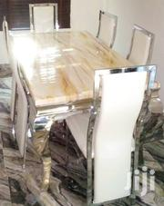 Quality Strong Six Seater Marble Dining Table | Furniture for sale in Abia State, Aba North