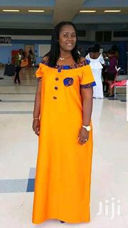 Long A-Line Gown With Ankara Patches   Clothing for sale in Lagos State, Gbagada