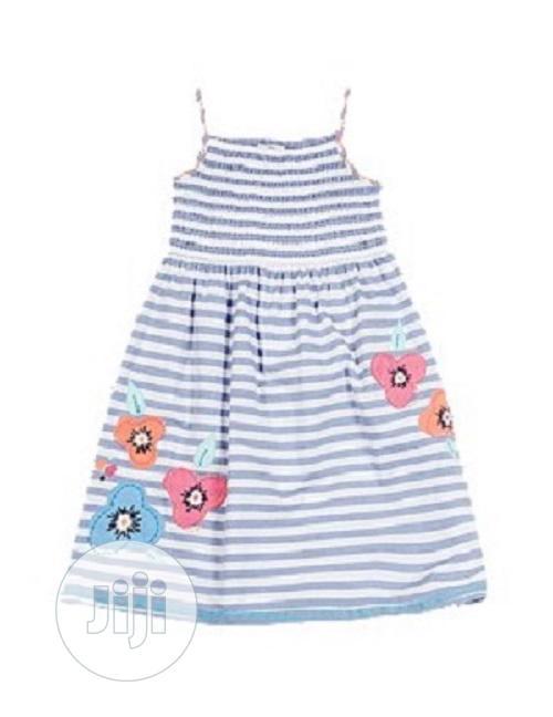 Marks Spencer Cotton Floral Embroidered Dress - Blue