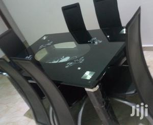 Quality Strong Six Seater Tinted Glass Dining Table | Furniture for sale in Abia State, Aba North