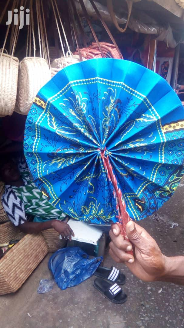 Archive: Ankara/Leather Handfans