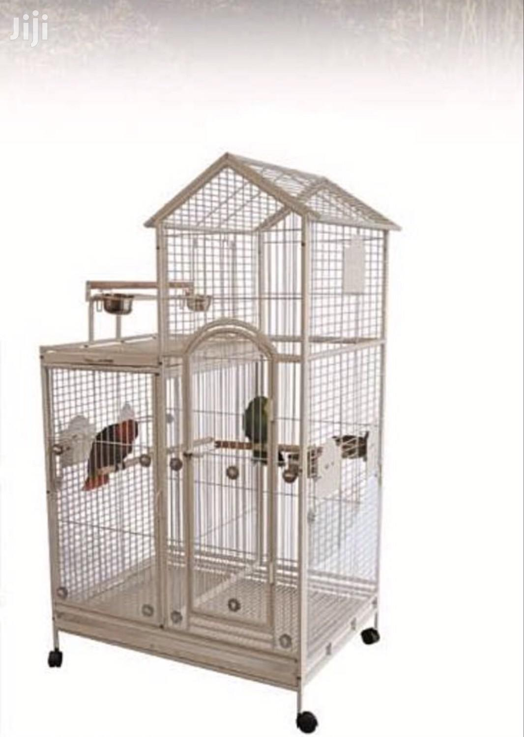 Pent House Parrot Cage
