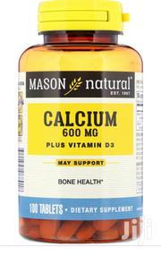 Mason Natural, Calcium Plus Vitamin D3, 600mg | Vitamins & Supplements for sale in Lagos State, Gbagada