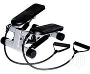 Bodyfit Mini Stepper With Resistance Bands - Black | Sports Equipment for sale in Ekiti State, Irepodun/Ifelodun