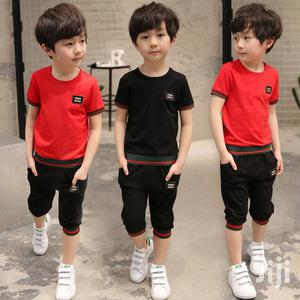 Boys Summer Round Neck T-shirt And Knicker | Children's Clothing for sale in Lagos State, Yaba