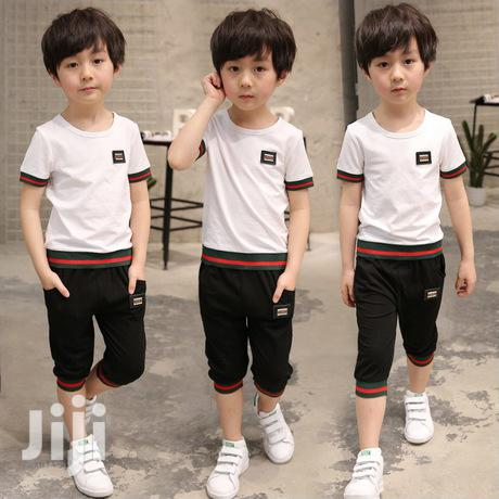 Boys Summer Round Neck T-shirt And Knicker | Children's Clothing for sale in Yaba, Lagos State, Nigeria