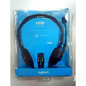 Logitech H110 Stereo Headset, Dual Jack | Headphones for sale in Lagos State, Ikeja