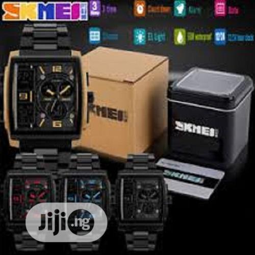 Skmei Dual Display Wrist Watch Rectangle Shape.