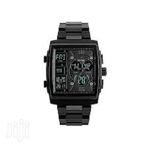 Skmei Dual Display Wrist Watch Rectangle Shape. | Watches for sale in Ikeja, Lagos State, Nigeria
