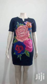 Dennim(Jeans) Gown With Flowery Ankara Patches   Clothing for sale in Lagos State, Lekki Phase 1