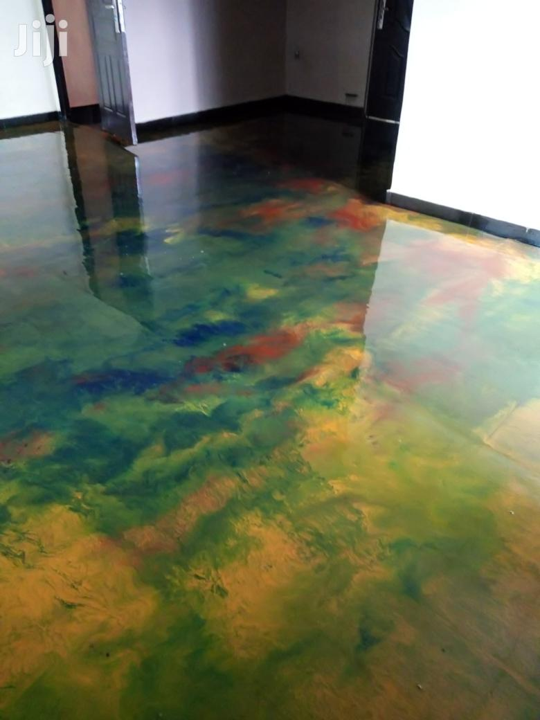 3D Epoxy Chemicals Installation And Stamp Concrete
