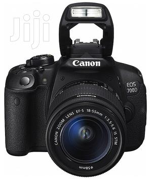 Canon EOS 700D With 18-55mm Lens (London Used) | Photo & Video Cameras for sale in Lagos State, Ikeja