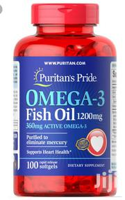Puritan's Pride Omega-3 Fish Oil 1200mg ( 360mg Active Omega-3)   Vitamins & Supplements for sale in Lagos State, Gbagada