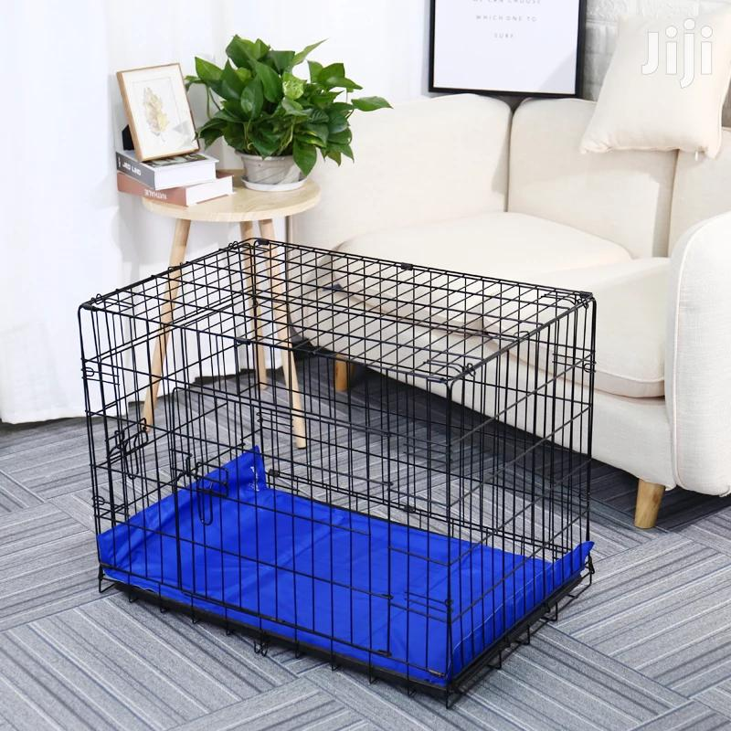 Fully Equipped Metal Foldable Dog Cage + a Slate Big Size