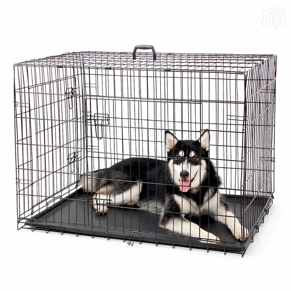 Fully Equipped Metal Foldable Dog Cage + a Slate Big Size   Pet's Accessories for sale in Lekki, Lagos State, Nigeria