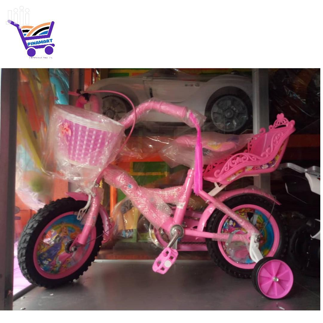 """Archive: Princess BMX Flower Bicycle 12"""" With Helmet"""