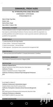 Sales Executive | Sales & Telemarketing CVs for sale in Benue State, Ogbadibo