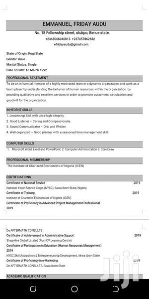 Sales Executive   Sales & Telemarketing CVs for sale in Benue State, Ogbadibo