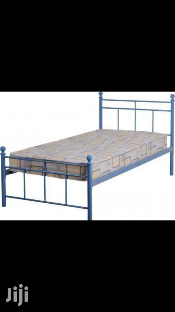 Archive: Callum Single Blue Metal Bed Frame.
