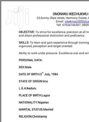 Freelance Marketing Executives | Advertising & Marketing CVs for sale in Lagos State, Alimosho