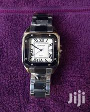 Cartier Silver Black Chain Unisex Wristwatch | Watches for sale in Lagos State, Surulere