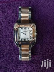 Cartier Silver Rose Gold Chain Unisex Wristwatch | Watches for sale in Lagos State, Surulere