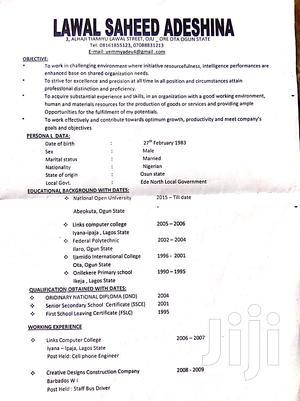Floor Sales Representative   Sales & Telemarketing CVs for sale in Ogun State, Ado-Odo/Ota