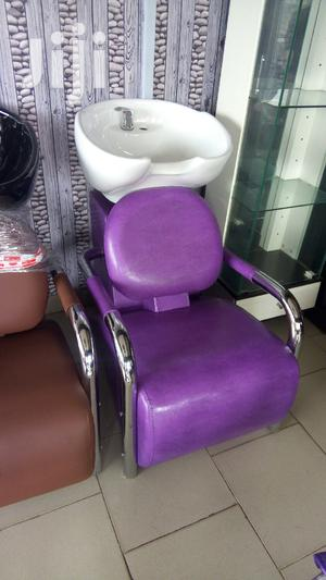 Salon Chair With Washing Marble.   Salon Equipment for sale in Lagos State, Ajah