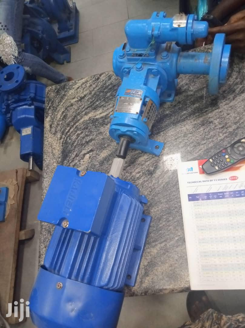 Gear Pump With Electric Motor.