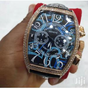 Franck Muller Chronograph Ice Head Rose Gold Leather Strap Watch   Watches for sale in Lagos State, Lagos Island (Eko)
