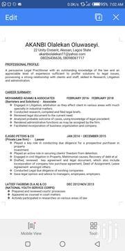 Legal Officer CV | Legal CVs for sale in Lagos State, Ikotun/Igando