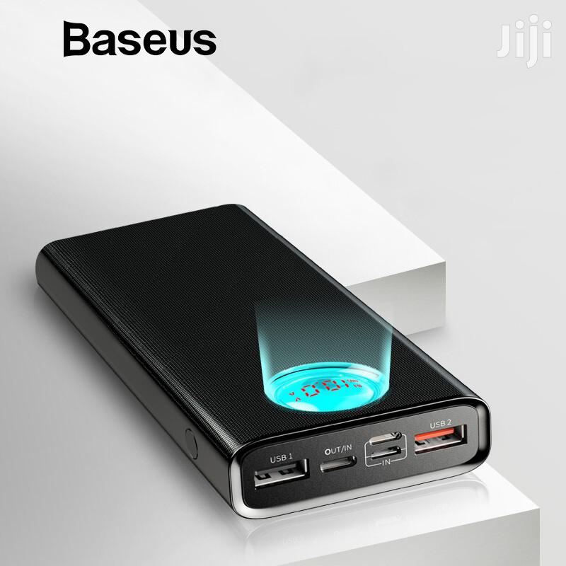 Baseus Mulight PD3.0 Quick Charge Powerbank 20000mah Black | Accessories for Mobile Phones & Tablets for sale in Ikeja, Lagos State, Nigeria