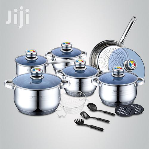 Royalty Line 18 Pieces Stainless Steel Inox Cookware Set With Lids