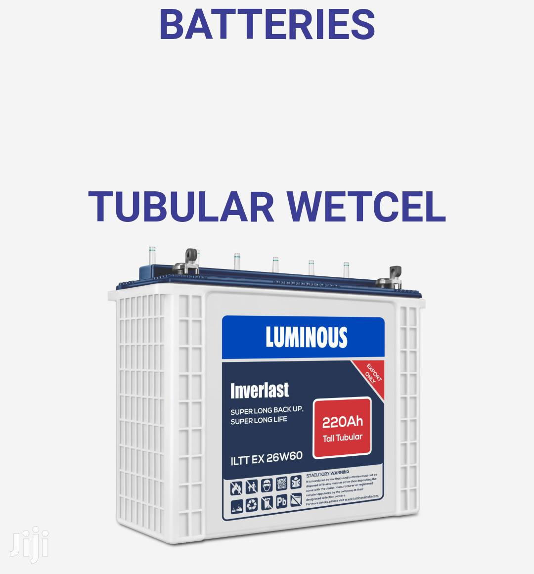 Luminious Tubular 220ah 12v Tubular Battery