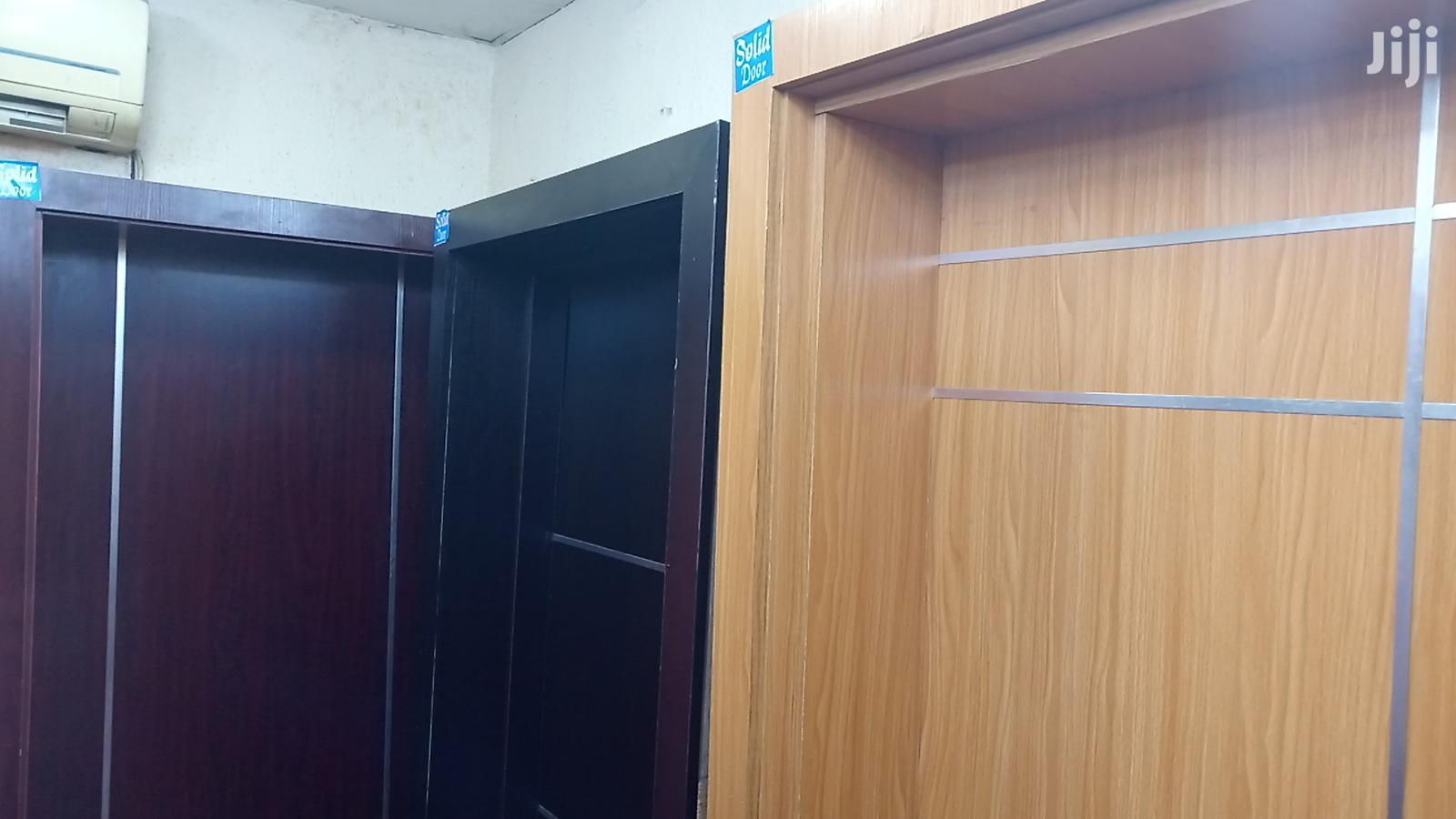 Solid HDF Doors With Chrome | Doors for sale in Mushin, Lagos State, Nigeria