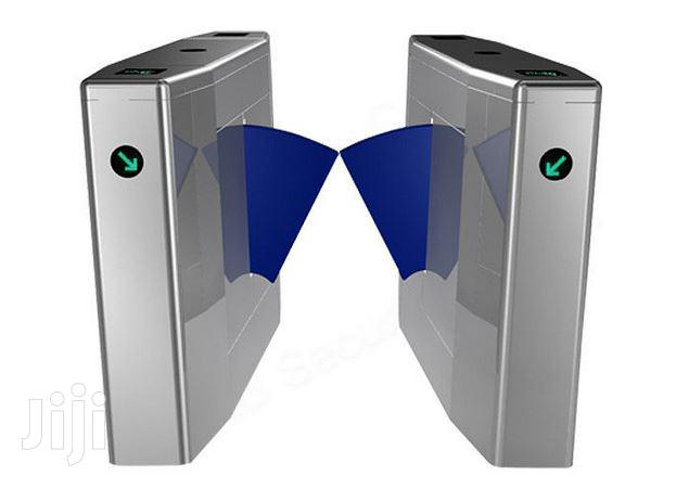Metal Flap Barrier Access Control Turnstile Gate BY HIPHEN SOLUTIONS