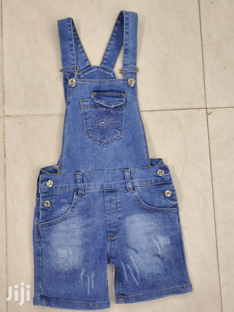 Blue Turkey Dungarees For Girls Ages 2 To 10 Years