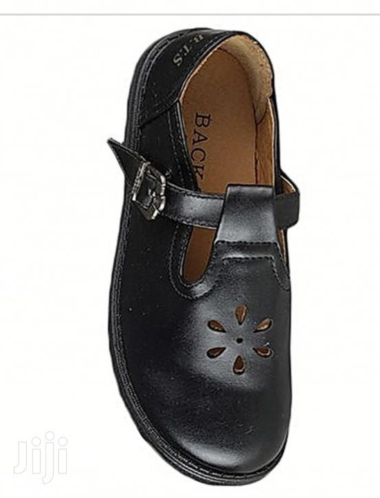 Kids Back To School Shoes Children Leather Shoes Black