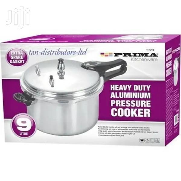 Prima Heavy Duty Aluminium Pressure Cooker 9 Liter