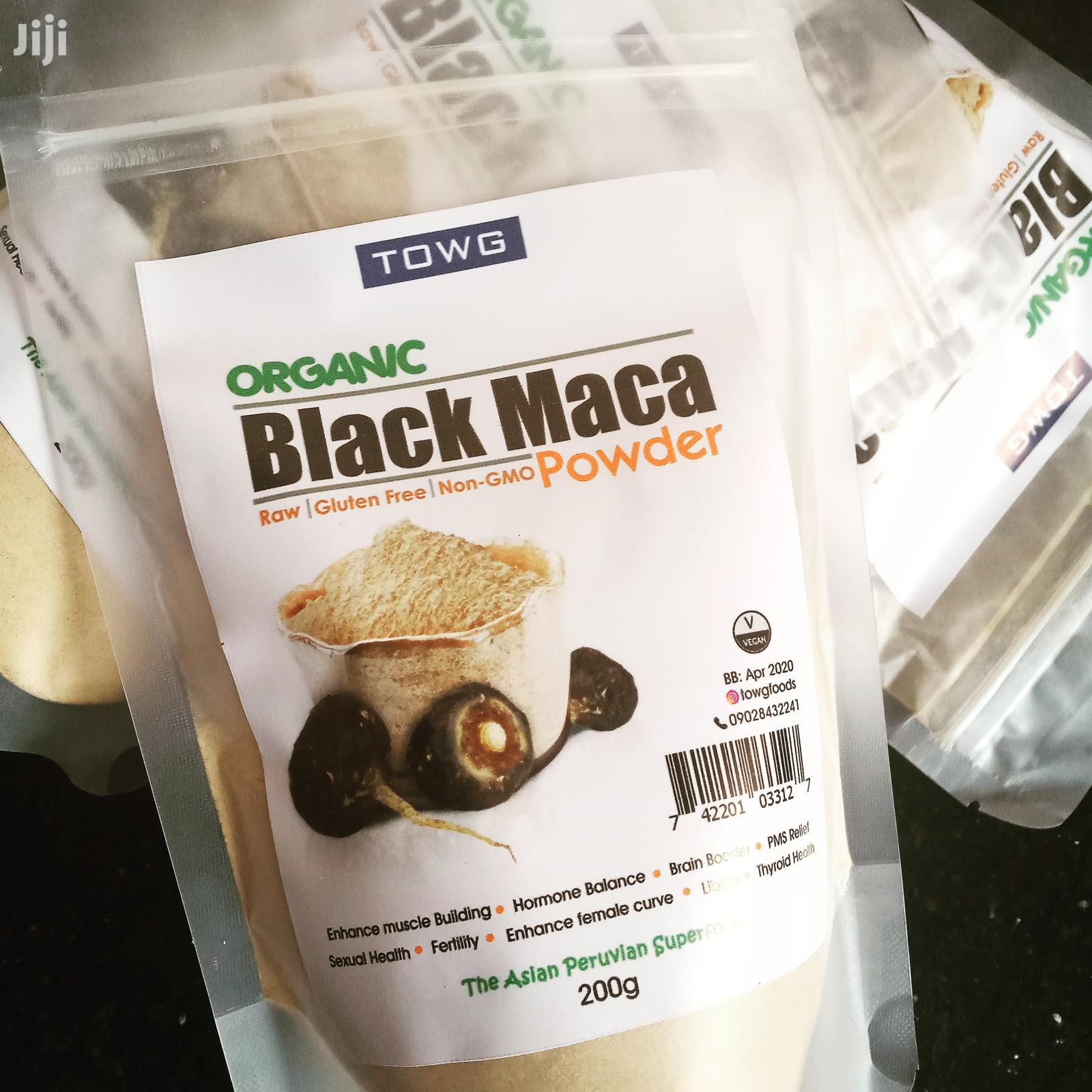 Organic Raw Black Maca Powder For Sexual Health- 200g