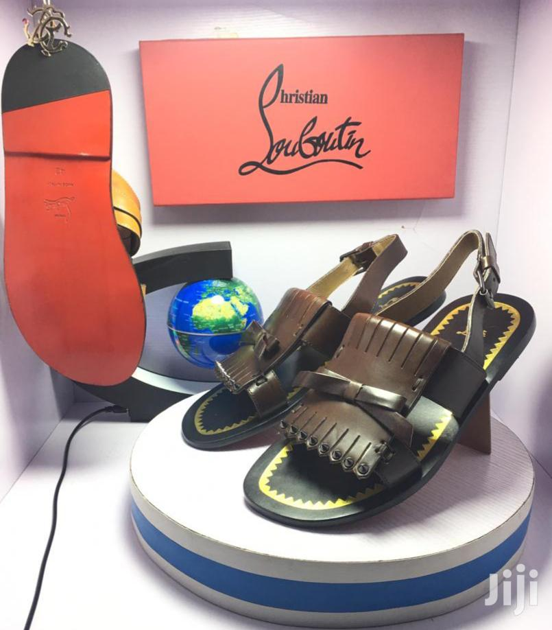 Quality Christian Louboutin Men's Leather Sandals