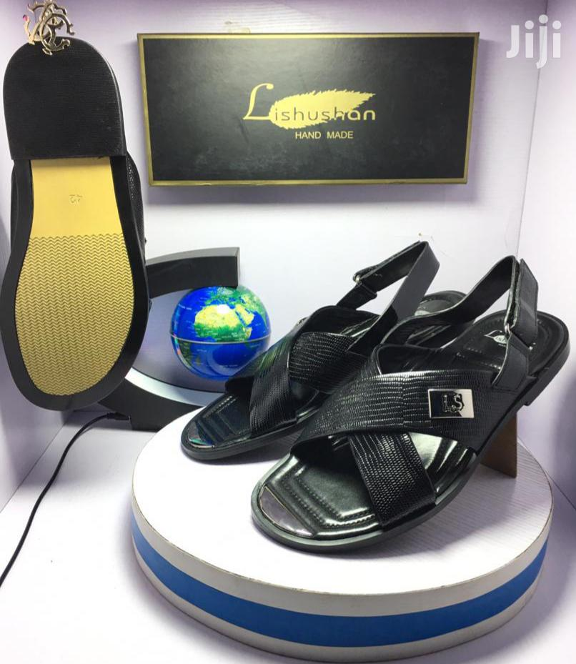 Archive: Quality Lishushan Hands Made Men's Leather Sandals