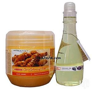 Tumeric Lightening Scrub Skin Doctor Lavender Massage Oil | Skin Care for sale in Lagos State, Ojo
