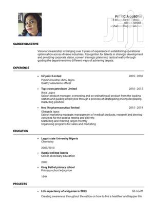Medical Lab Scientist CV   Healthcare & Nursing CVs for sale in Lagos State, Oshodi