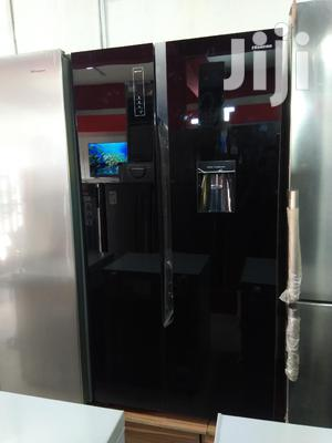 Brand New Hisense Ref76ws514litter Side By Side Black Mirror | Kitchen Appliances for sale in Lagos State, Ojo