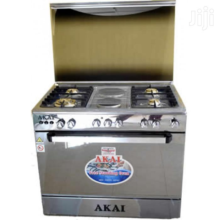 New AKAI Standing Gass Cooker 4gas 2electric Oven And Grill